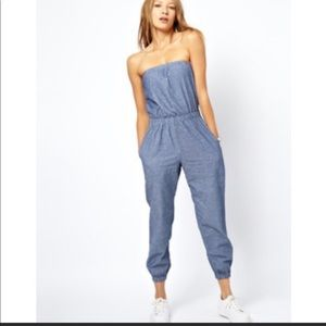 American Apparel Chambray Jumpsuit (Jean color)